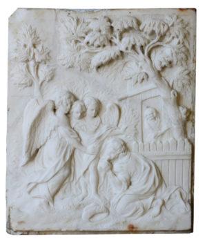 Antique White Statuary Marble Plaque
