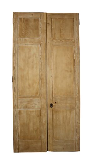 Pair Of Early 19th C. Pine Front Doors / Double Doors
