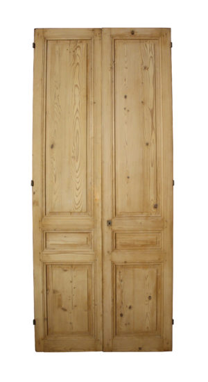 A Set of Antique Pine Double Doors