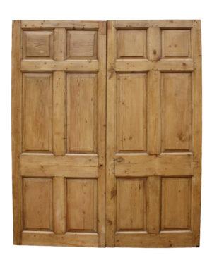A Set of Georgian Six Panel Double Doors