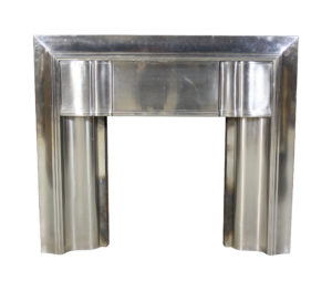 An Original Art Deco Stainless Steel Fire surround