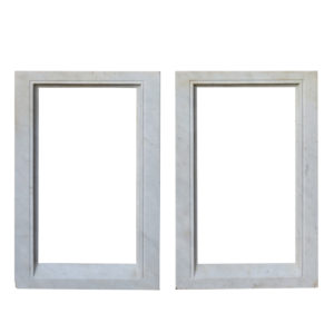 A Pair of Antique Carved Carrara Marble Picture Frames