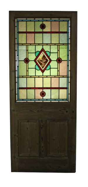A Reclaimed Stained Glass Door
