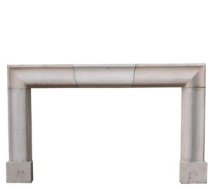 Antique English Cotswold Limestone Bolection Fire Surround