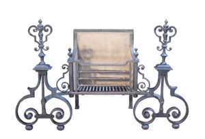 An Antique Wrought Iron Fire Grate