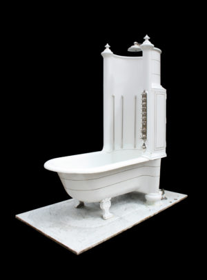 Rare Royal Doulton Canopy or Shower Bath with Marble Base