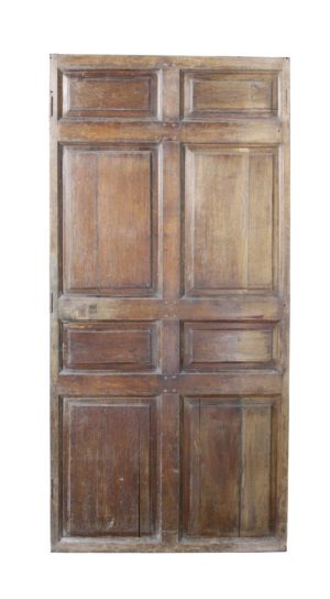 An English Georgian Period Oak Panelled Door