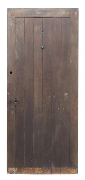 A Reclaimed Edwardian Oak Exterior Door
