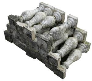 A Set of Reclaimed Stone Garden Balustrades