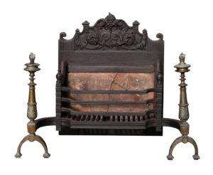 An Antique English Victorian Period Fire Grate