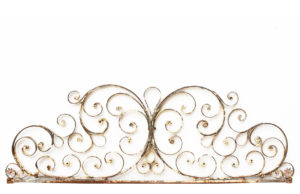 An Antique Wrought Iron Gate Overthrow