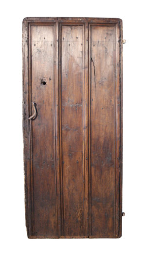 18th C. Stained Pine Plank Door