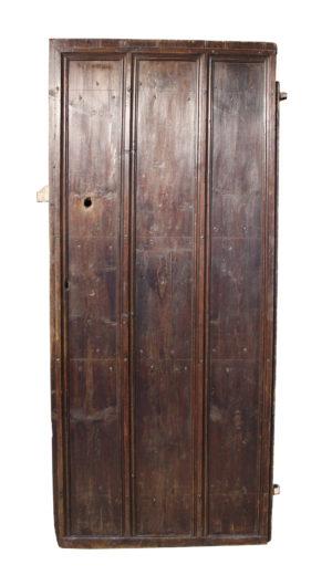 A Georgian Pine Plank Door