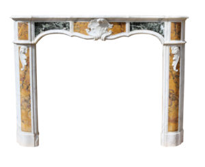 Louis XV Marble Fireplace Circa 1770