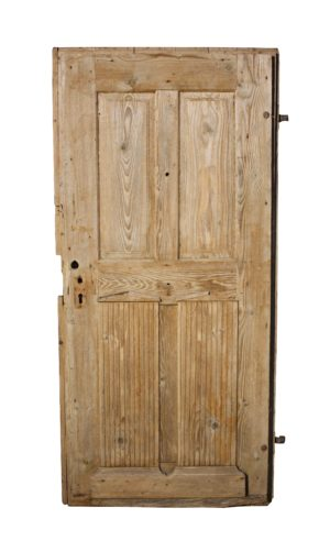 A Rustic Antique Pine Exterior Door