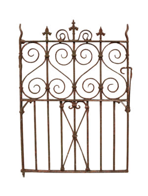 An Antique Wrought Iron Pedestrian or Side Gate