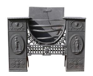 A Georgian Hob Grate made by 'Carron'