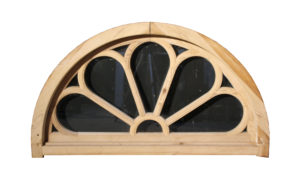 Early 20th C. Stripped Pine Fanlight With Frame