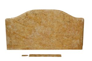 A Reclaimed Breche De Benou Jaune Marble Table Top