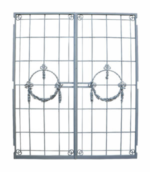 A Pair of Reclaimed Antique Wrought Iron Gates
