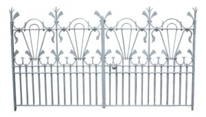 A Pair of Victorian Wrought Iron Drive Gates in The Arts and Crafts Style