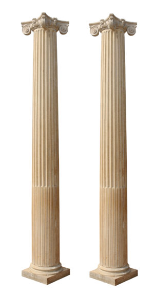 Pair of Antique English Oak Columns 10'6″ (3.25m)