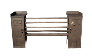 An 18th Century Coalbrookdale Cast Iron Kitchen Grate