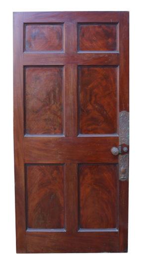 Set of Six English Mahogany Doors C. 1780