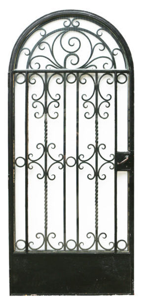 A 1930s Wrought Iron Arched Gate or Door