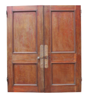 A Set of 19th Century English Mahogany Double Doors