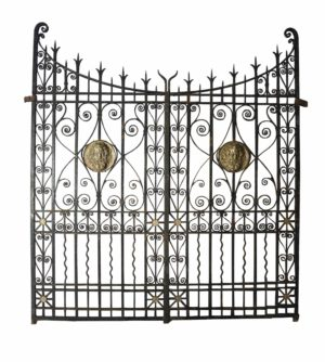 Wrought Iron and Bronze Driveway Gates