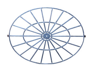 Large Antique Cast Iron Oval Window
