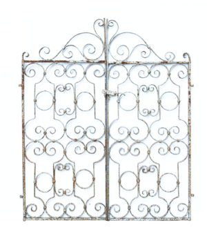 A Pair of Small Wrought Iron Gates
