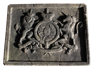 A Rare Carved British Royal Coat of Arms or Crest Circa 1775-1800