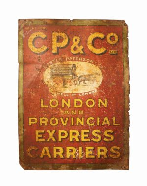 An Antique Pictorial Transport Advertising Sign