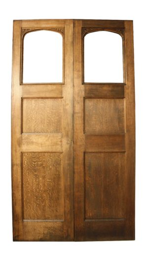 A Pair of Victorian Oak Doors
