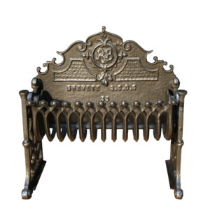 A Small 19th Century Cast Iron Fire Grate