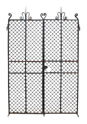 A Set of Antique Wrought Iron Gates