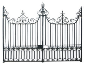 A Pair of Antique Wrought Iron Driveway Gates 12 ft / 3.7m
