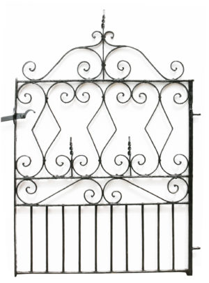 Victorian Wrought Iron Garden Gate