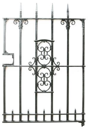 A Salvaged Cast Iron Garden Gate