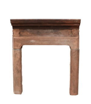 A Georgian Carved Red Sandstone Fire Surround