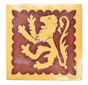 An Antique A W Pugin Minton English Encaustic Tile