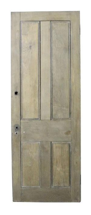 A Reclaimed Solid Oak Four Panel Exterior Door