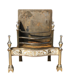 An Antique English George III Style Fire Grate