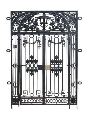 An Antique Wrought Iron Gate with Frame