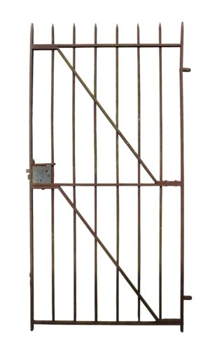 A Simple 19th Century Wrought Iron Side Gate