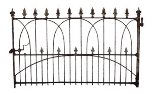 An Antique English Wrought Iron Estate Gate