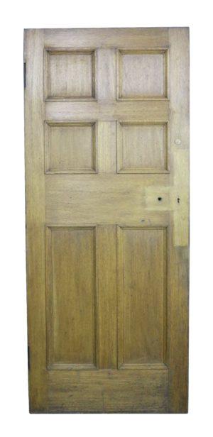 A 19th Century Oak Six Panel Internal Door