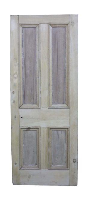 A Reclaimed Pine Four Panel Front Door